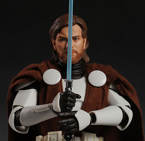 Sideshow Star Wars Obi-wan Kenobi in Clone Armor action figure