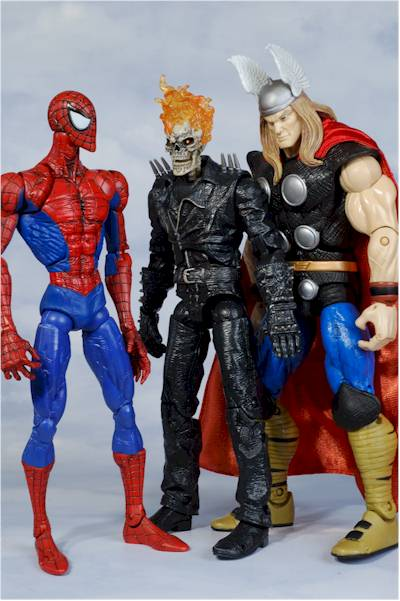 ultimate ghost rider and flame cycle action figure