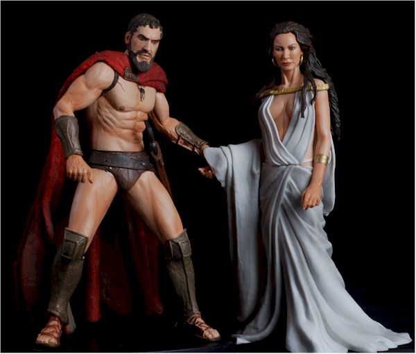 NECA 300 Series 1. King Leonidas and Queen Gorgo  sc 1 st  MWCToys.com & 300 series 1 Leonidas and Gorgo action figures - Another Pop Culture ...