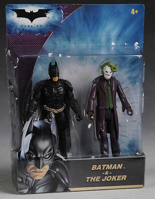 Mattel 4 inch Dark Knight Batman and Joker action figures