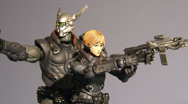 Appleseed snap kits action figures from Hot Toys