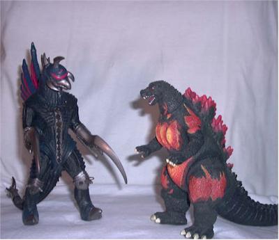 Burning Godzilla And Final Wars Gigan Action Figures