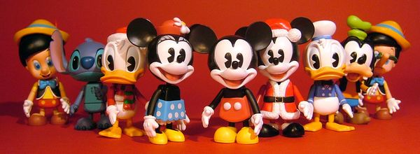 Disney Cosbaby vinyl figures by Hot Toys