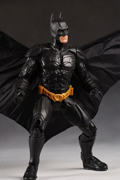 Dark Knight Batman action figure with action cape  by Mattel