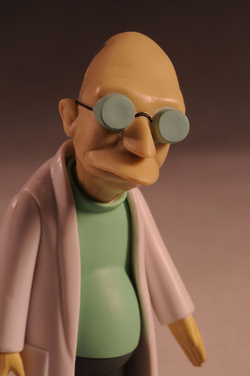 Professor Farnsworth and Hermes Futurama series 7 action figure by Toynami