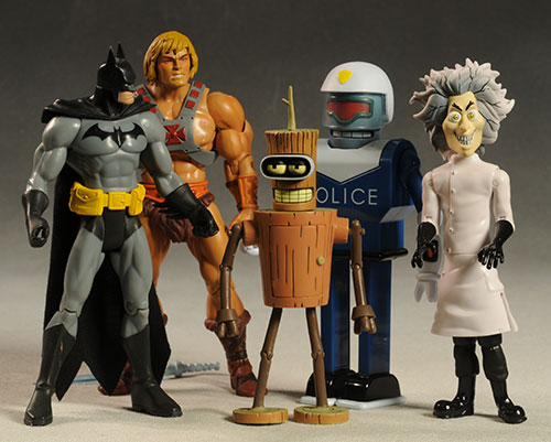 Futurama wave 9 URL and Wooden Bender action figures by Toynami