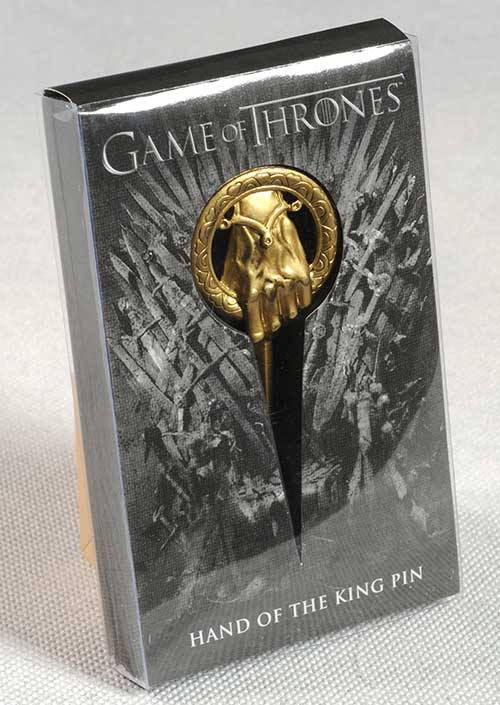 Game of Thrones Hand of the King Pin prop replica by Dark Horse Comics