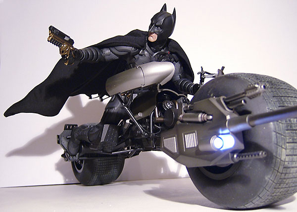 The Dark Knight Bat Pod vehicle from Hot Toys