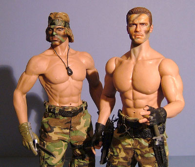 Dutch and Billy Predator sixth scale action figures from Hot Toys