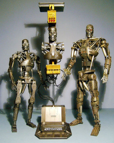 Terminator Salvation T 700 T 600 And T 700 Diorama Sixth