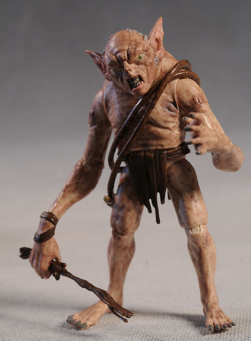Hobbit Goblin and Thorin action figures by The Bridge Direct