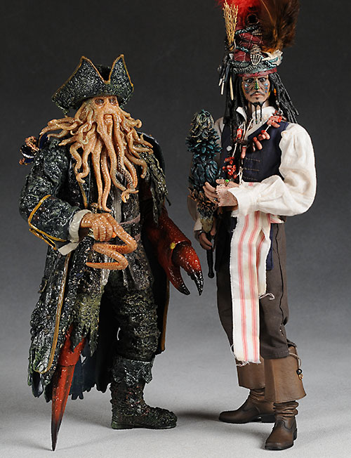 Hot Toys Davy Jones and Jack Sparrow action figures