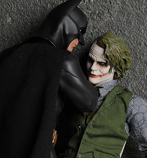 Hot Toys Dark Knight Batman and Joker action figures