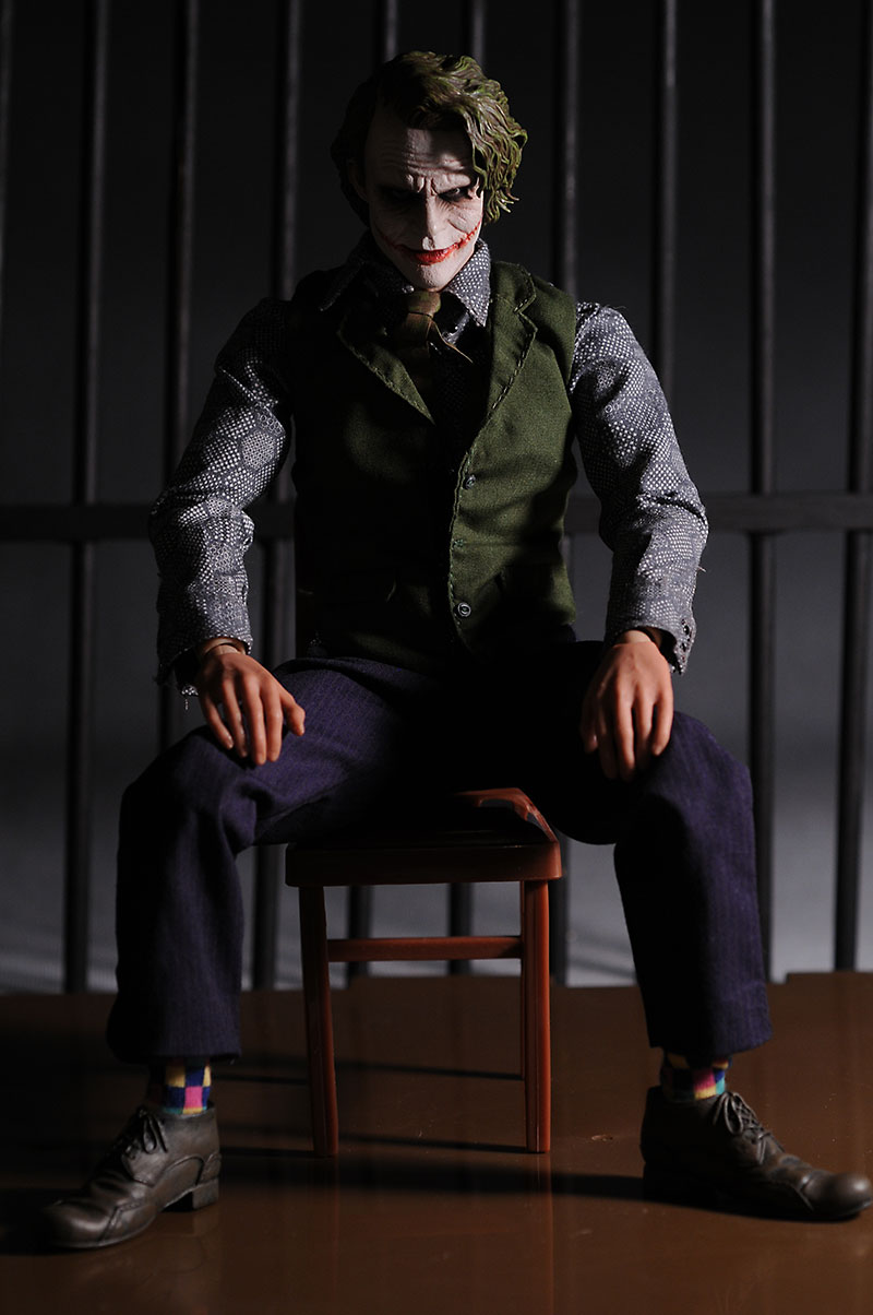 Dark Knight Joker action figure by Hot Toys