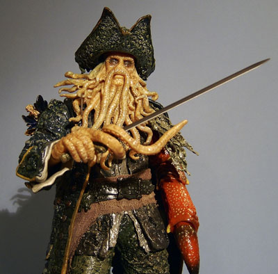 pirates of the caribbean hot toys davy jones action figure