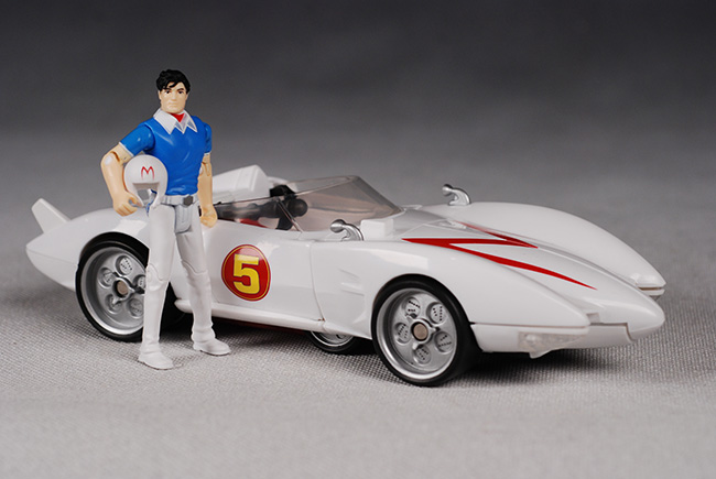 Movie deluxe mach 5 and speed racer action figure another pop