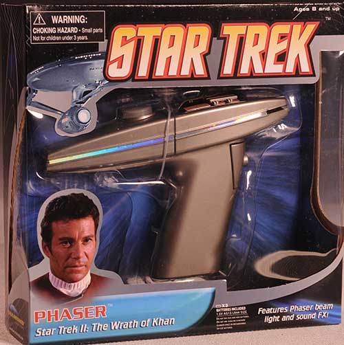 Wrath of Khan Star Trek phaser by Diamond Select Toys
