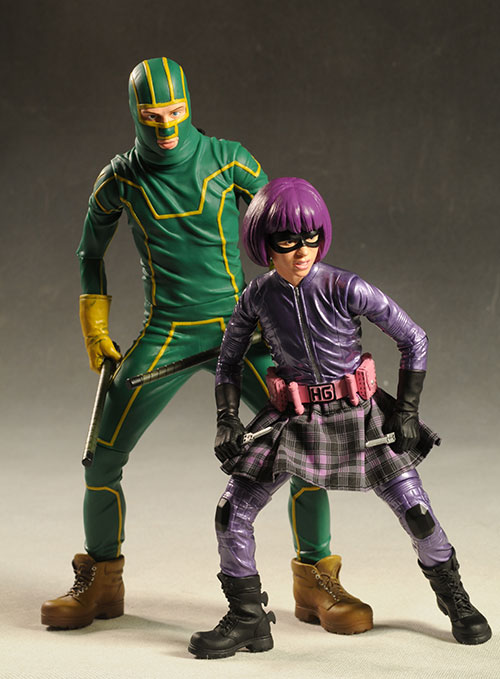 Kick-Ass and Hit-Girl 12 inch action figure by Mezco Toyz