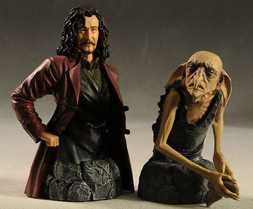 Sirius Black and Kreacher mini-busts by Gentle Giant