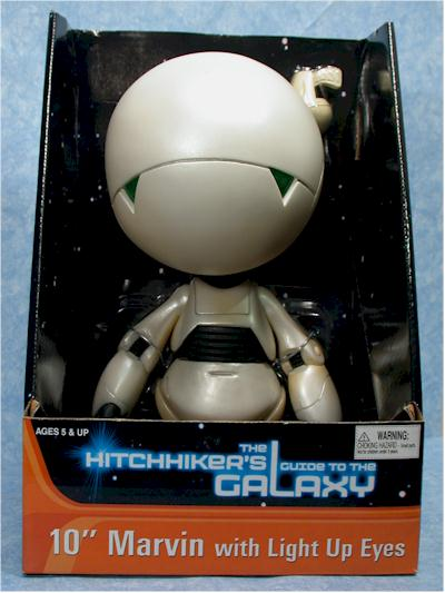 """NECA The Hitchhiker/'s Guide To The Galaxy MARVIN 6/"""" figure MOC new"""
