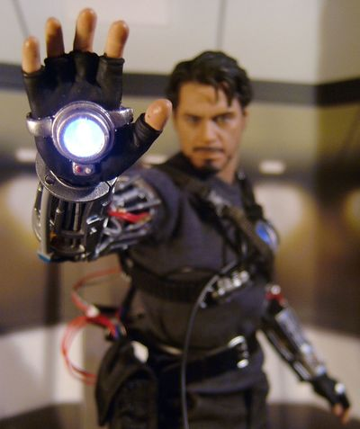 Iron Man Mech Test Tony Stark action figure by Hot Toys