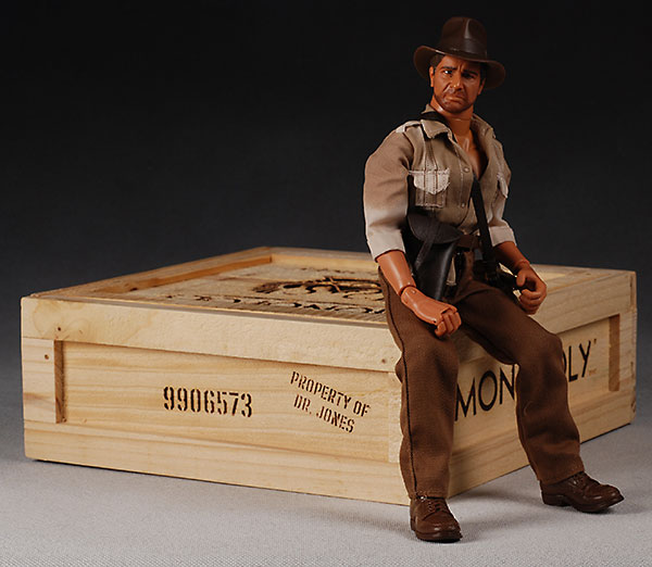 Indiana Jones action figure and Monopoly board game