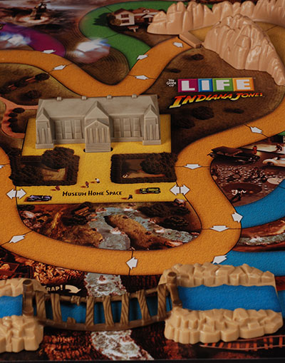 Indiana Jones Game of Life board game