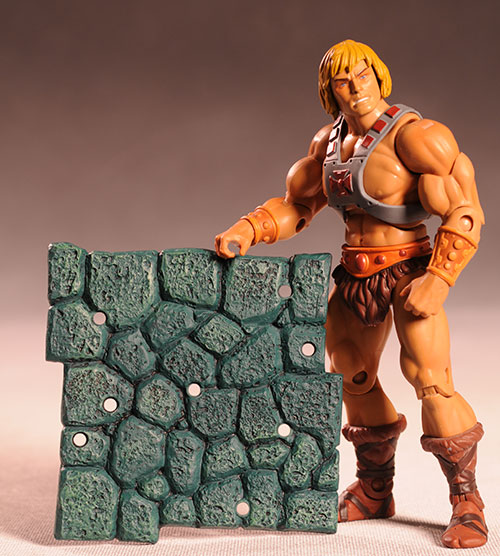 Masters of the Universe Classic display stands by Mattel