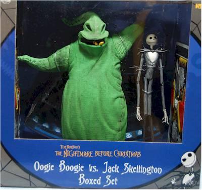 Nmbc Jack Skellington Vs Oogie Boogie Action Figures