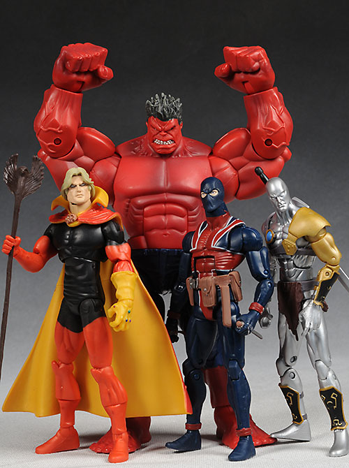 Marvel Legends Red Hulk wave action figures