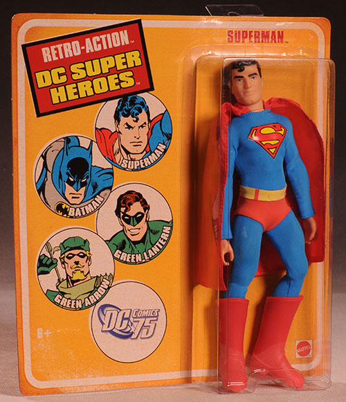 Retro Action DC Superheroes Superman action figure by Mattel
