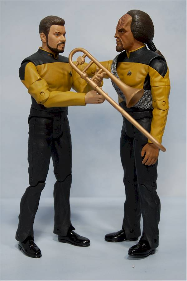 star trek next generation riker and worf action figures another