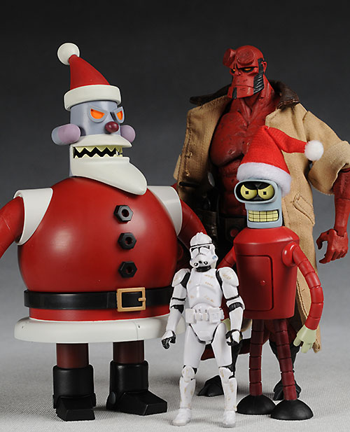 Futurama Robot Santa and Santa Bender action figures