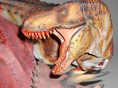 Dinosauria: T-Rex vs Triceratops Diorama statue by Sideshow Collectibles