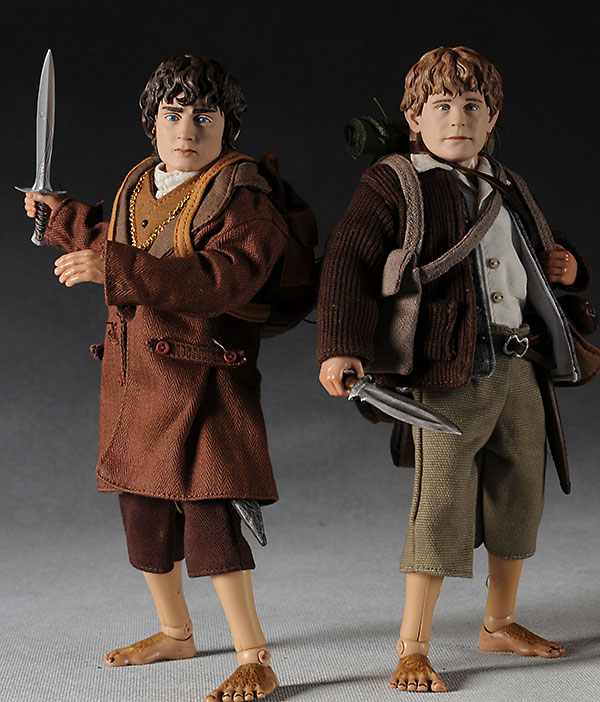 Sideshow Collectibles Lord of the Rings Sam and Frodo action figures