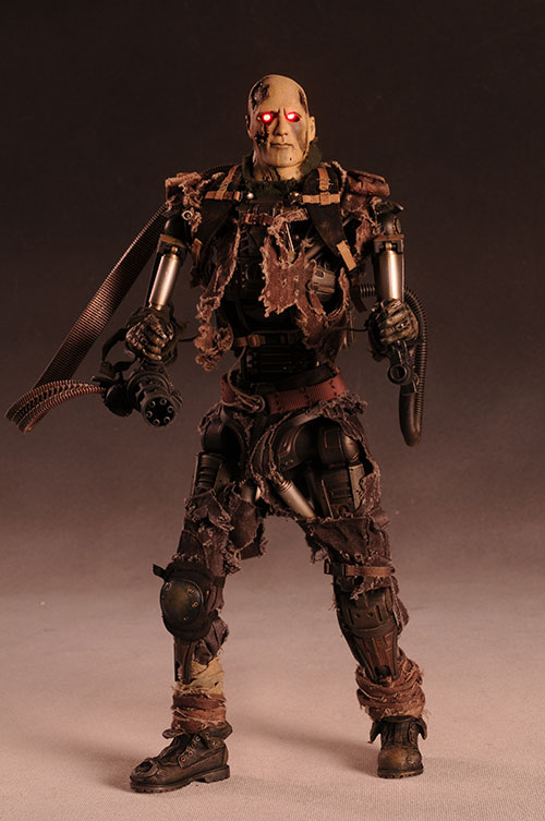 T-600 Terminator Salvation weathered skin sixth scale action figure by Hot Toys