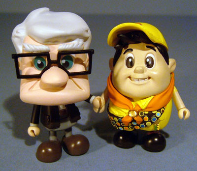 Up Carl and Russell Cosbaby figures from Hot Toys