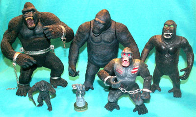 X-plus King Kong vs T-Rex action figures