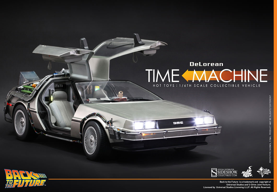 Hot Toys Back to the Future Delorean