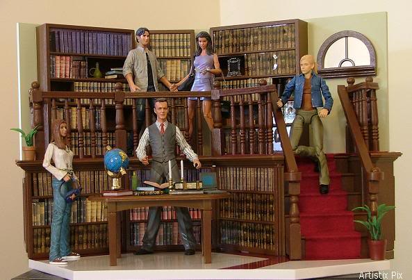 Buffy Library Play Set