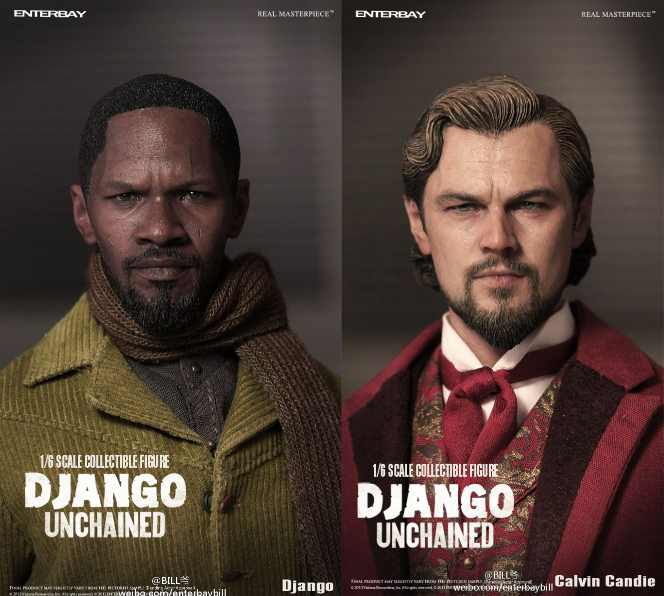 Enterbay Django Unchained action figures