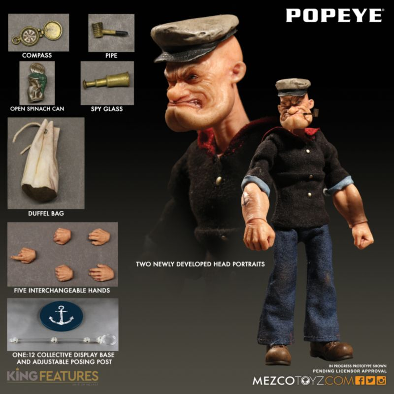 One:12 Collective Popeye action figure