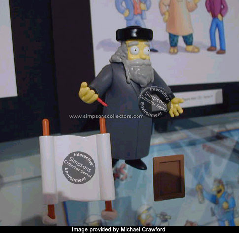 Simpsons Rabbi Krustofsky action figure