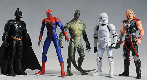 Amazing Spider-Man and Lizard action figures by Hasbro