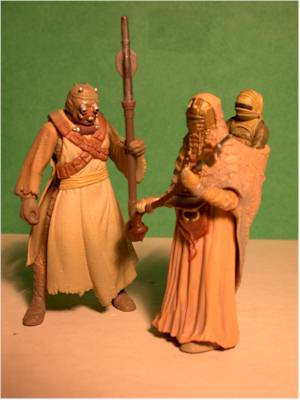 Attack of the Clones Plo Koon, Jettster, Shaak Ti, Tusken action figures by Hasbro