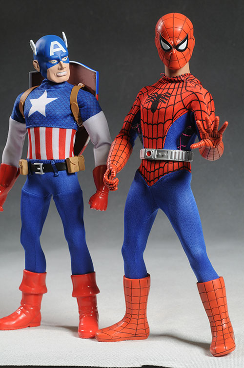 Captain Action Spider-Man, Captain America costumes by Round 2