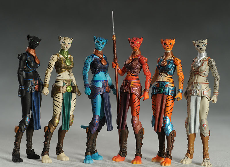 Queen Alluxandra's Council of Cats action figures by the Four Horsemen