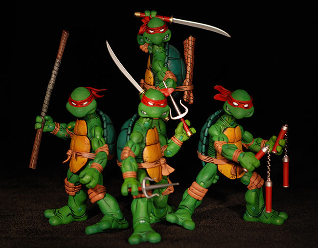 Teenage Mutant Ninja Turtles comic action figures by NECA