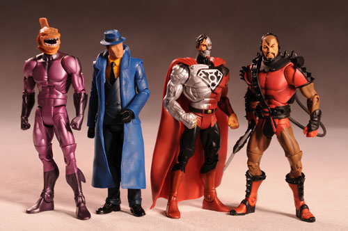 DCUC The Question, Shark, Steppenwolf, Cyborg Superman action figures by Mattel