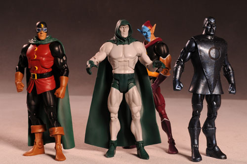 Dr. Mid-Night, Iron, Eclipso, Spectre action figures by Mattel